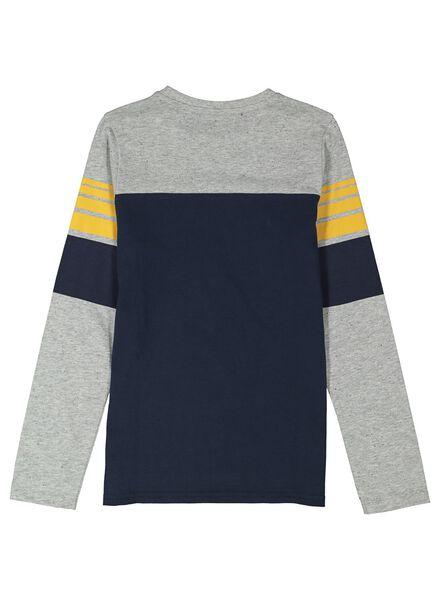 kinder t-shirt grijsmelange grijsmelange - 1000014278 - HEMA