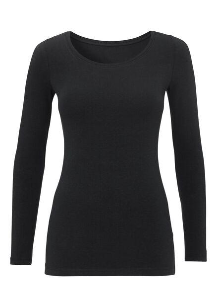 dames t-shirt zwart zwart - 1000005475 - HEMA