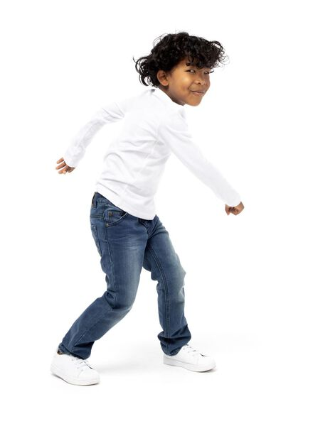 2-pak kinder t-shirt - biologisch katoen wit wit - 1000003427 - HEMA