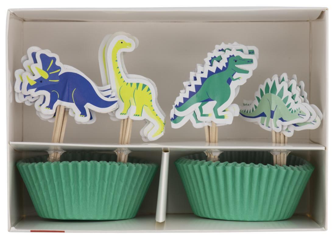 HEMA Cupcake Set Dino 24 Stuks
