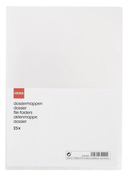 25-pak dossiermappen - 14850045 - HEMA