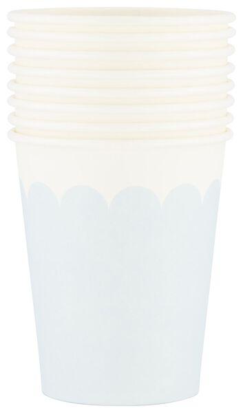 Papieren bekers - 250 ml - high tea - 8 stuks - in Wegwerpservies