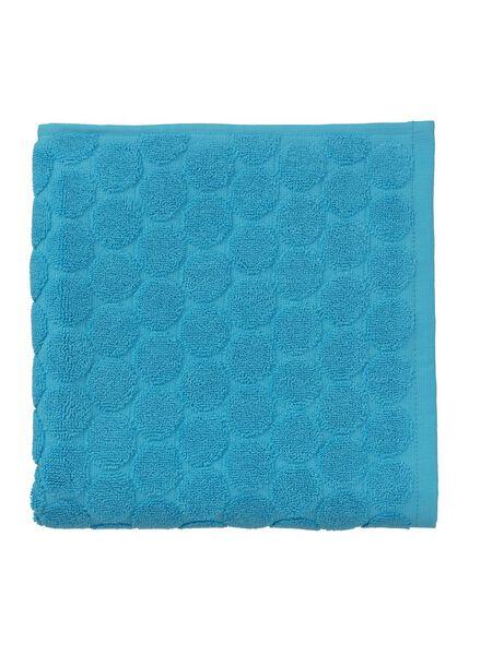 handdoek - 50 x 100 cm - zware kwaliteit - aqua gestipt - 5240176 - HEMA