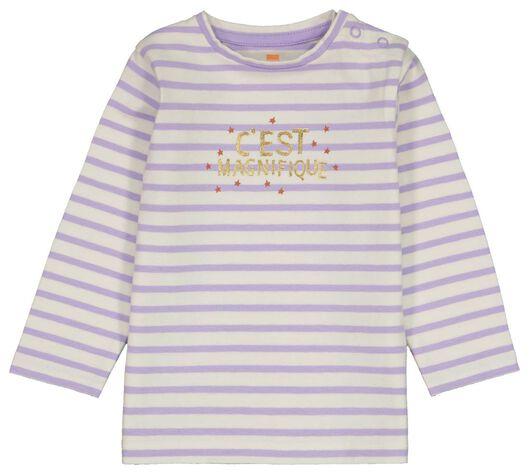 baby t-shirt strepen gebroken wit gebroken wit - 1000024442 - HEMA