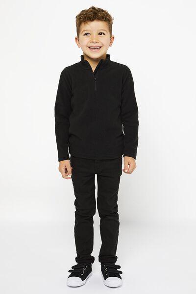 kinder skipully fleece zwart 110/116 - 30784149 - HEMA