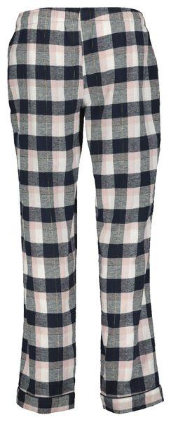 dames pyjamabroek flanel roze - 1000021689 - HEMA