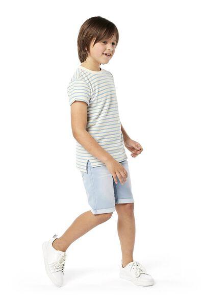 kindershort comfy fit lichtblauw 98/104 - 30763131 - HEMA