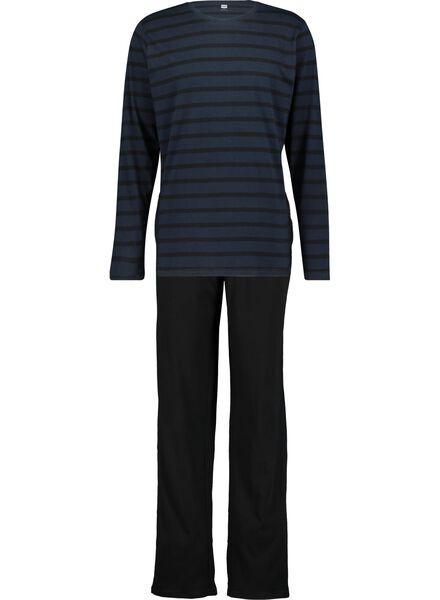 herenpyjama donkerblauw donkerblauw - 1000015702 - HEMA