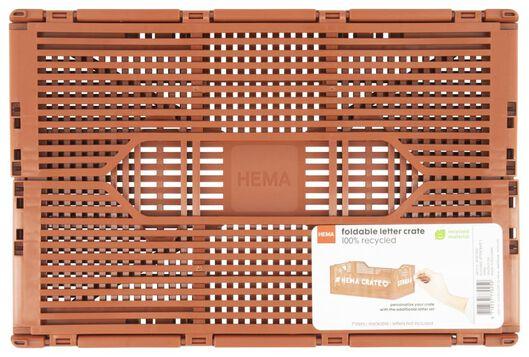 klapkratje letterbord recycled 20x30x11.5 - bruin - 39821022 - HEMA