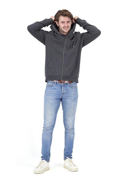 herenvest met capuchon grijsmelange grijsmelange - 1000020165 - HEMA