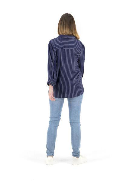 damesblouse donkerblauw donkerblauw - 1000014859 - HEMA