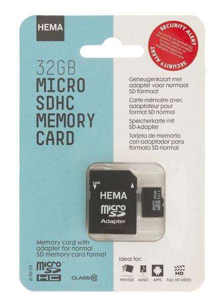 geheugenkaart micro SDHC 32 GB - 39512301 - HEMA