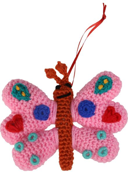 haakset vlinder sleutelhanger - 15990032 - HEMA