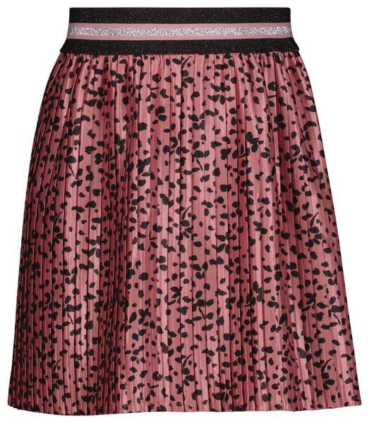 kinderrok plissé bloemen roze roze - 1000024762 - HEMA