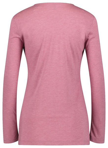dames t-shirt met glitter roze roze - 1000021443 - HEMA