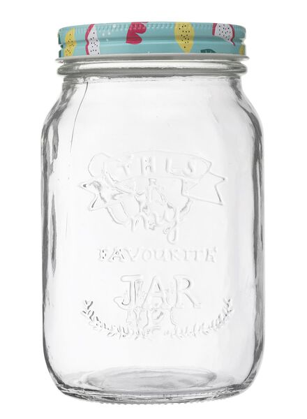 glazen pot 1 liter - 80810202 - HEMA