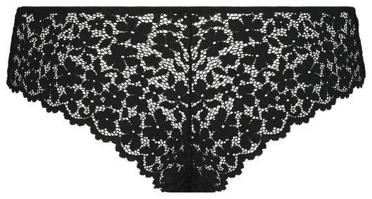 B.A.E. damesbrazilian kant bloemen zwart zwart - 1000022600 - HEMA