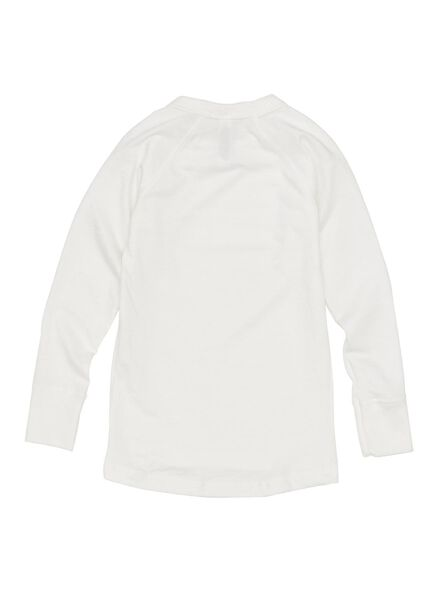 kinder thermo t-shirt wit 146/152 - 19309115 - HEMA