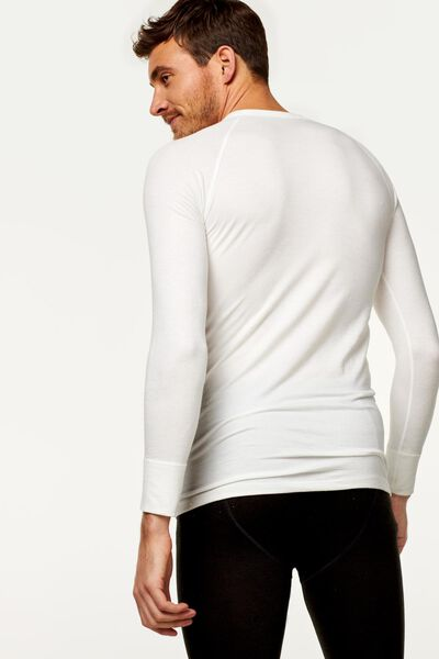 heren thermo t-shirt wit wit - 1000000963 - HEMA