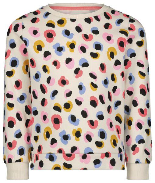kindersweater bloemen gebroken wit - 1000021948 - HEMA