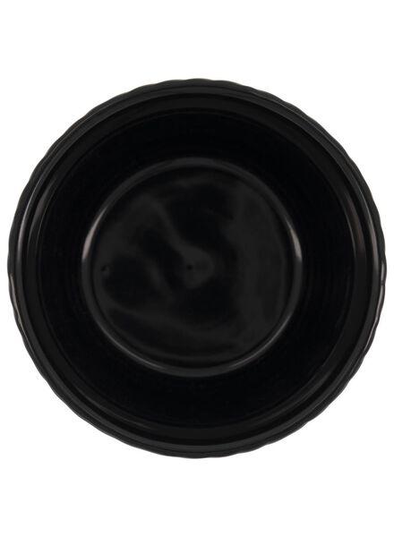 bloempot - 14.5 x Ø 13.5 cm - zwart/wit keramiek zigzag - 13392076 - HEMA