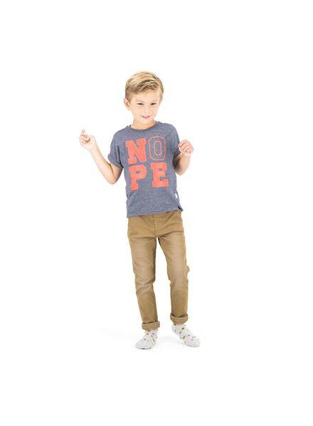 kinder t-shirt blauw blauw - 1000013774 - HEMA
