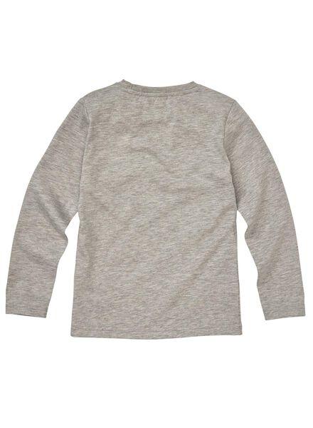 kinder t-shirt middengrijs middengrijs - 1000008589 - HEMA