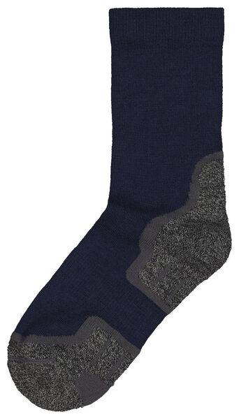 wandelsokken met wol blauw 35/38 - 4440066 - HEMA
