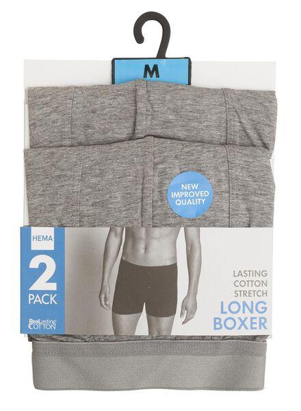 2-pak RLC long boxer lichtgrijs lichtgrijs - 1000001056 - HEMA