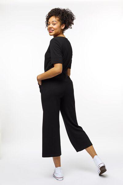 dames jumpsuit rib zwart zwart - 1000023336 - HEMA