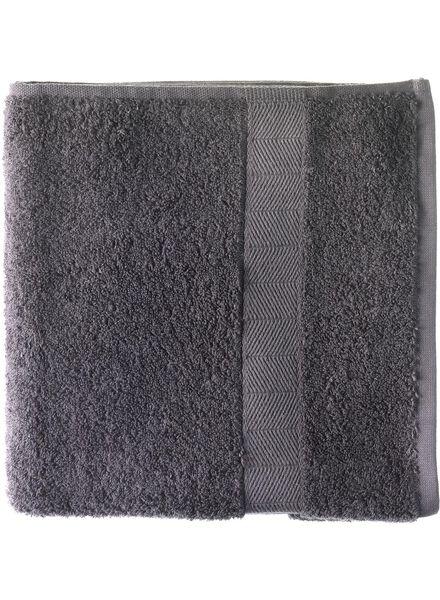 handdoek - 70 x 140 cm - zware kwaliteit - donkergrijs donkergrijs handdoek 70 x 140 - 5214602 - HEMA