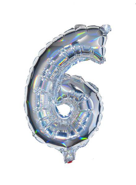folieballon cijfers 0-9 holografisch zilver zilver - 1000020772 - HEMA