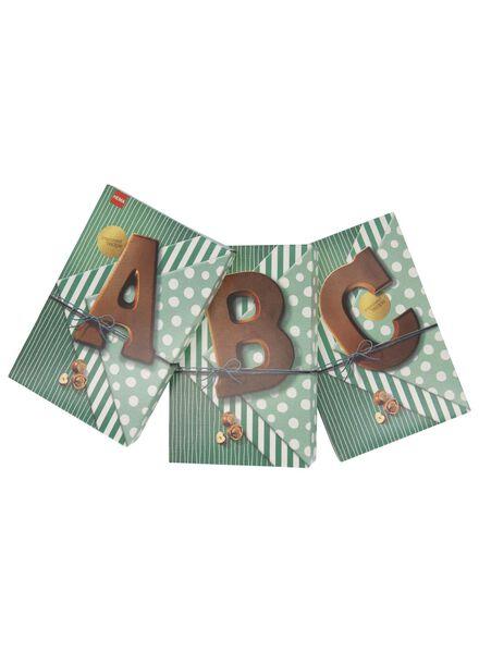 chocoladeletters - 160 gram hazelnoot melk hazelnoot melk - 1000017369 - HEMA