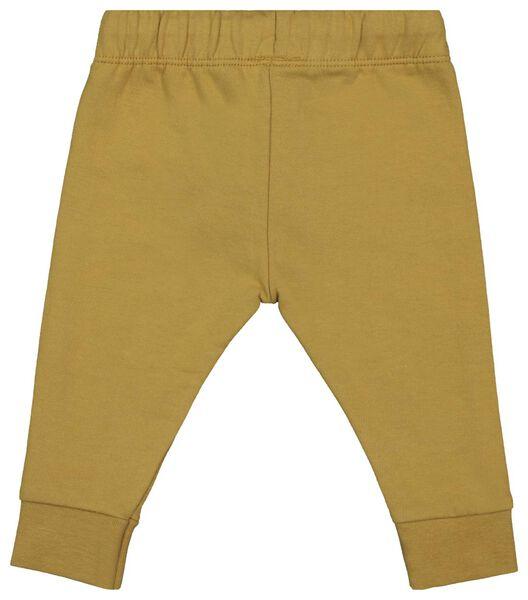 baby sweatbroek geel 74 - 33116045 - HEMA