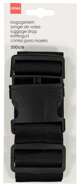 Bagageriem - 200 cm - zwart