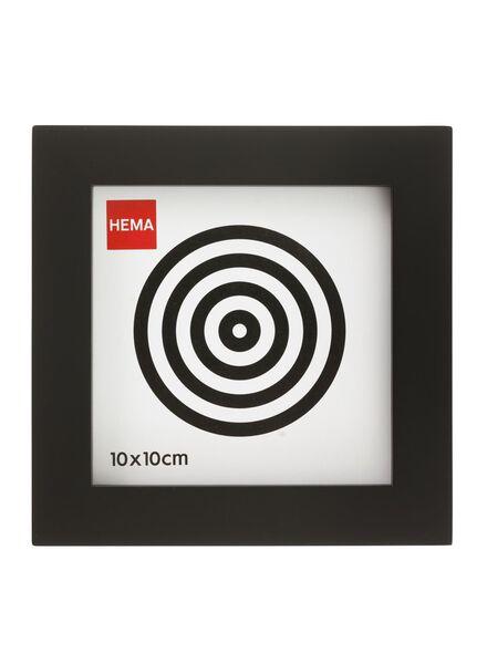 fotolijst - 10 x 10 cm - hout - zwart 10 x 10 zwart - 13680011 - HEMA