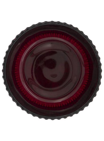 sfeerlichthouder - 6.5 x Ø 8.5 cm - rood ribbel - 13392097 - HEMA
