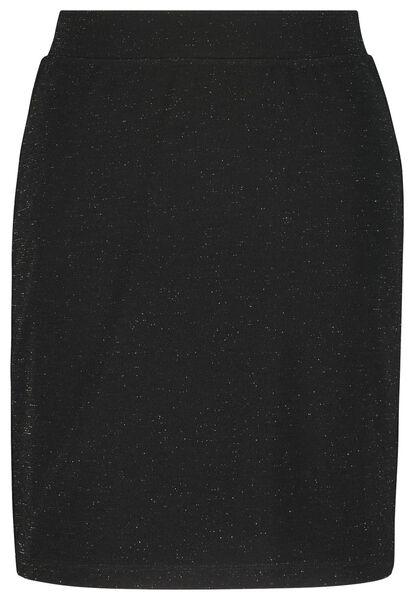 damesrok glitter zwart M - 36212587 - HEMA