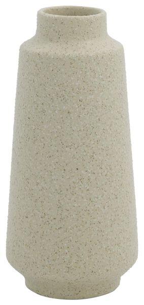 vaas Ø3.5x15 structuur aardewerk wit - 13311082 - HEMA