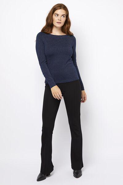 dames t-shirt glitter donkerblauw donkerblauw - 1000021676 - HEMA