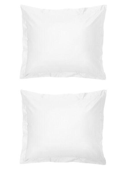 kussenslopen - hotel katoen percal - wit wit 60 x 70 - 5140136 - HEMA