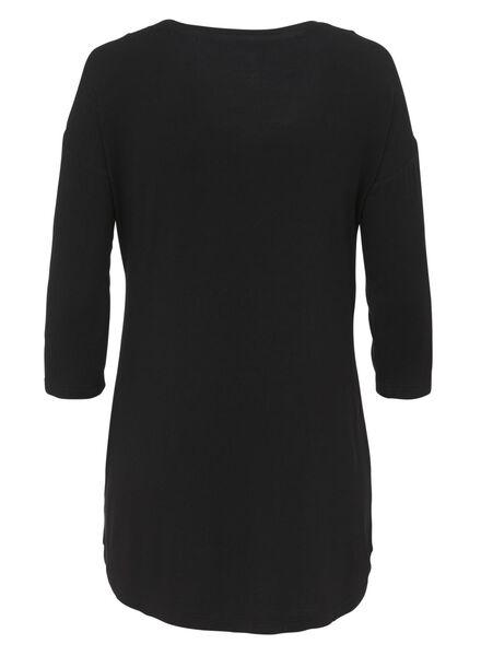 dames nacht t-shirt zwart zwart - 1000008776 - HEMA