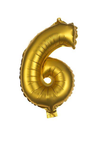 folieballon 6 - goud - 60800506 - HEMA