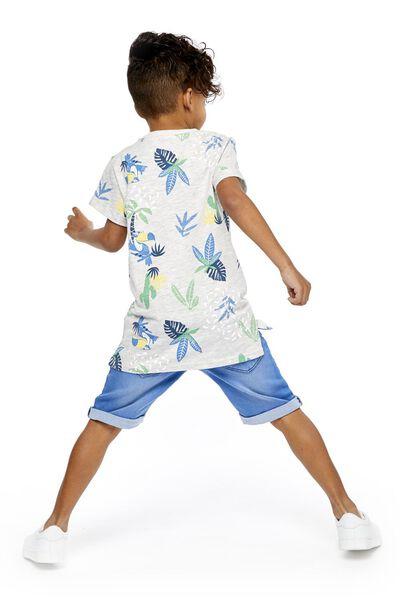 kindershort comfy fit middenblauw middenblauw - 1000018951 - HEMA
