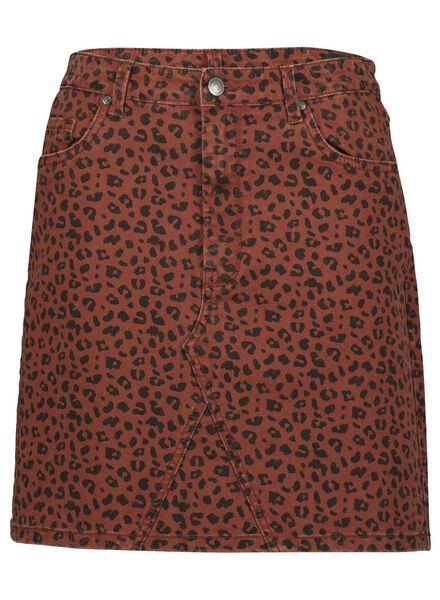dames jeans rok bruin bruin - 1000014775 - HEMA