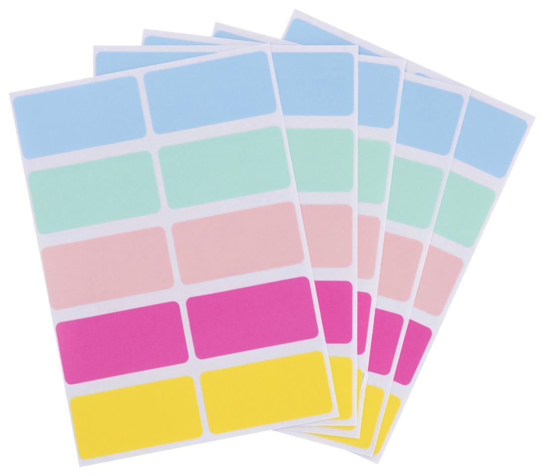 HEMA Etiketten 3.8x1.9 Pastel - 120 Stuks