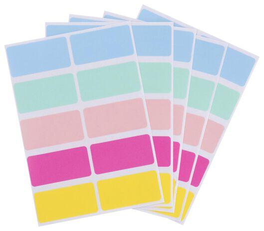 etiketten 3.8x1.9 pastel - 120 stuks - 14160032 - HEMA