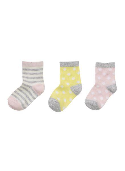 3-pak babysokken roze - 1000006458 - HEMA