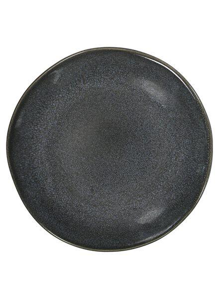 gebaksbord - 16.5 cm - Porto - reactief glazuur - zwart - 9602032 - HEMA