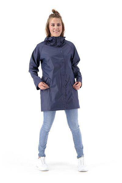 dames regenjas - waterproof blauw XL - 36291074 - HEMA